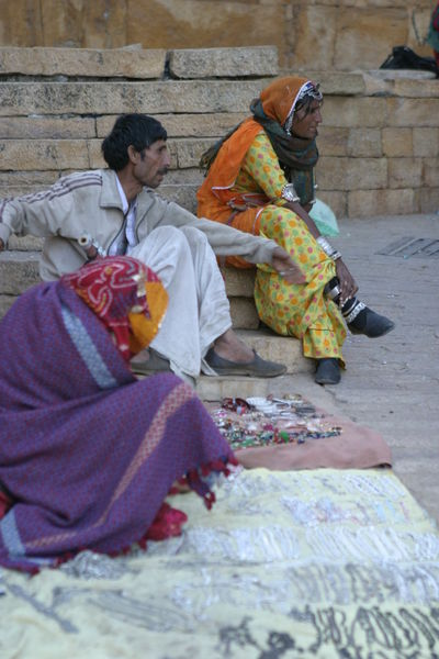 Vendors in Jaisalmer Fort