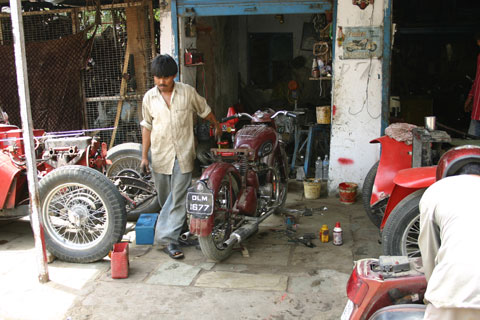 Repair shop for old Motorcycles