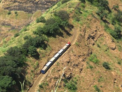 Matheran Toy Train below Panorama Point