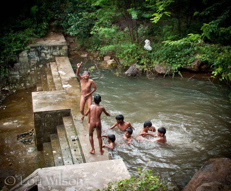 boy nude swimming hole