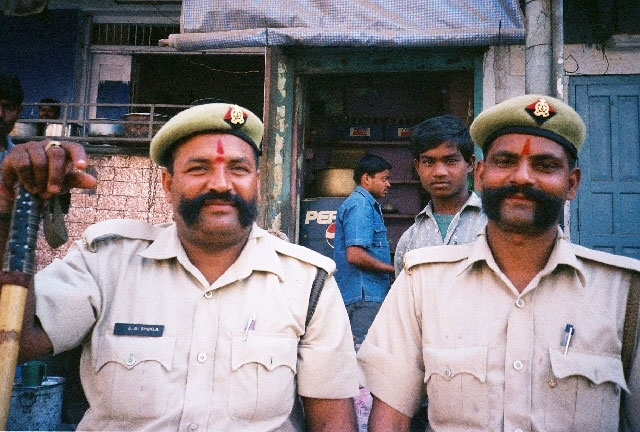 Two policemen from Varanasi