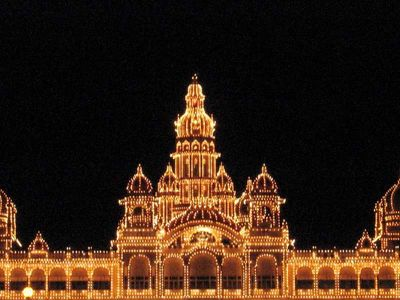 Mysore Palace. All lit up