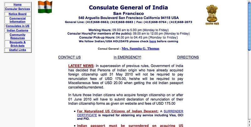 Renunciation Fee Cancelled For Many People Of Indian Origins India