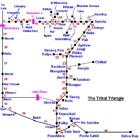 delhi road map with distance pdf