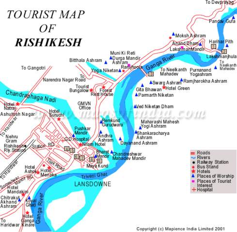 Need a map of haridwar and rishikesh - India Travel Forum ...