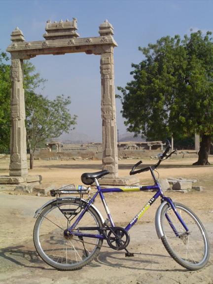Hiring a bicycle in Hampi