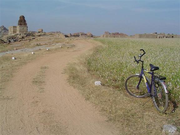 Royal enclosure area in Hampi India