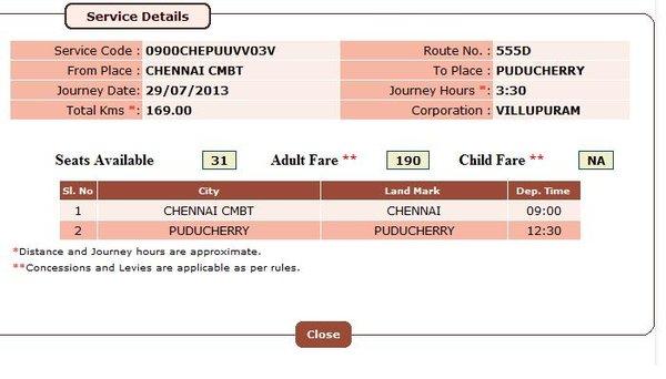 Bangalore To Pondicherry Bus Travel Time