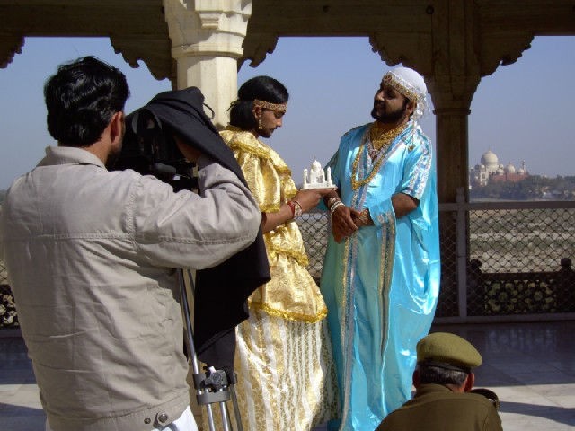 Day 9 Agra Fort with film crew 2.jpg