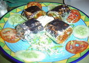 Bean and Cheese Burrito by iyou.  Tags: Mumbai, Mumbai, Maharashtra, City Life, food, restaurant food, cheese.