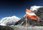 Mt. Chaukhamba and Mt. Balakun from Chakratirtha Top by SayanBanerjee.  Tags: Uttarakhand, Uttarakhand, Badrinath, chakratirtha, chaukhamba, balakun.