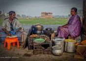 Fast Food - Under The Bridge by Lou Wilson.  Tags: Tamil Nadu, Madurai, food.