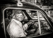 Ambassador Taxi Driver Hyderabad India 2010  by Lou Wilson.  Tags: Andhra Pradesh, Hyderabad, Taxis, Taxis, hyderabad india.
