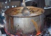 Morning Chai by Lou Wilson.  Tags: Puri, Odisha, Odisha, Bhubaneswar, Bhubaneswar, Shops and Businesses, chai, Food in India, food being transported, picasa, restaurant food, street food, morning.