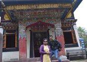 Buddhist Gompa Near Pelling by Gp Capt R K DAS.  Tags: Sikkim, Pelling, gompa, buddhist.