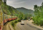 Kalka-Shimla Toy Train by LOWKEY_.  Tags: Himachal Pradesh, Shimla, kalka, himachal, Toy Trains, Toy Trains, kalka shimla, Trains, Trains, Trains.