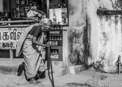 Walking by Lou Wilson.  Tags: Tamil Nadu, walking.
