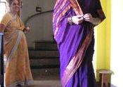 New purple sari by Susiewoo.  Tags: Andhra Pradesh, Hyderabad, sari, new.