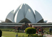 Lotus temple in Delhi India by nadreg.  Tags: Delhi, New Delhi, lotus temple, temple, delhi india.