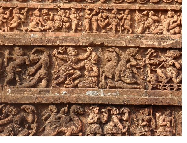 Terracotta art on Bishnupur Temple wall - India Travel Forum ...