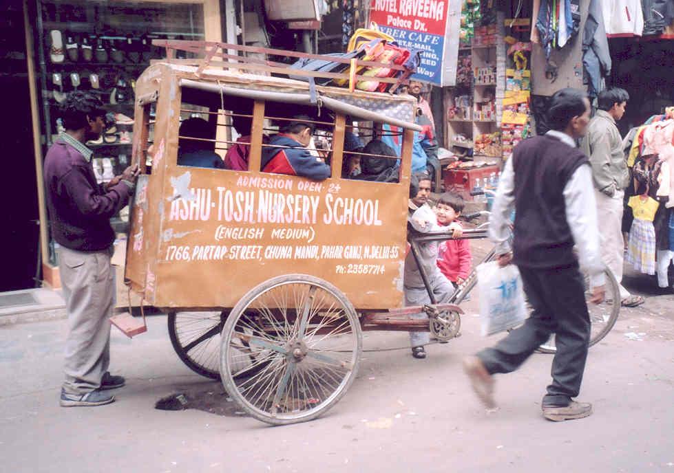 Tiny school bus, Delhi