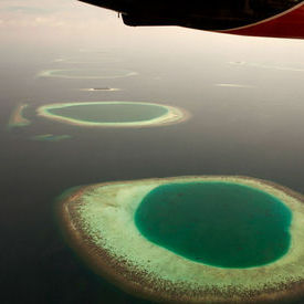 Maldivian atolls from the air