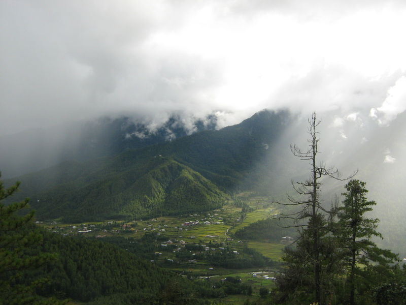View of Valley from Taktsang Monastery, Paro - India ...