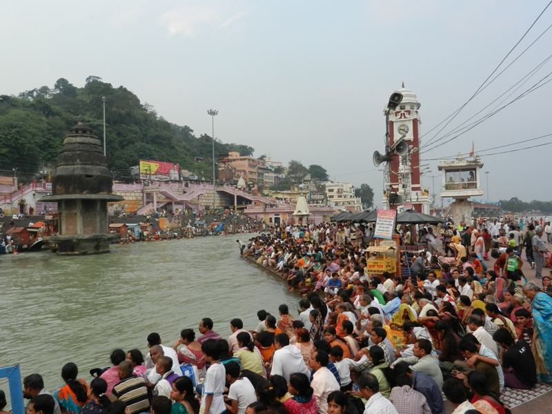 Haridwar Ganges crowd