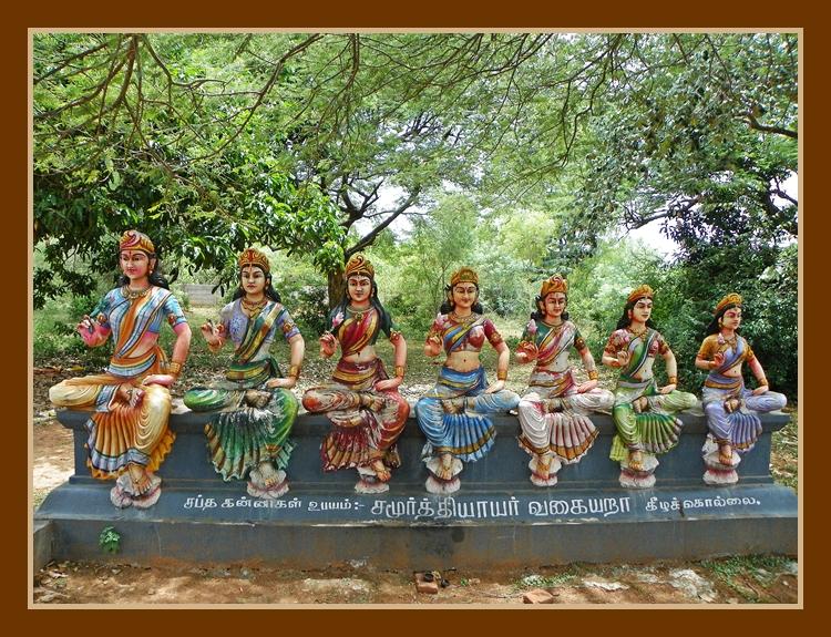 Village Gods of Tamil Nadu - Saptha Kannigal