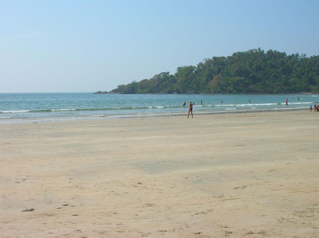 A scene at Palolem Beach Goa