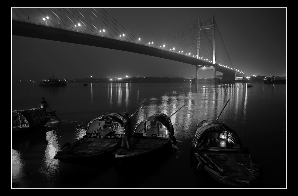 Vidyasagar Setu at Night