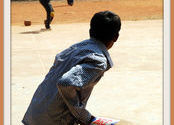 Future Cricket Star by Larry.  Tags: cricket, Sports in India.
