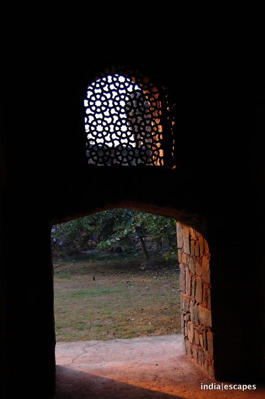 Light filtering through the jali window