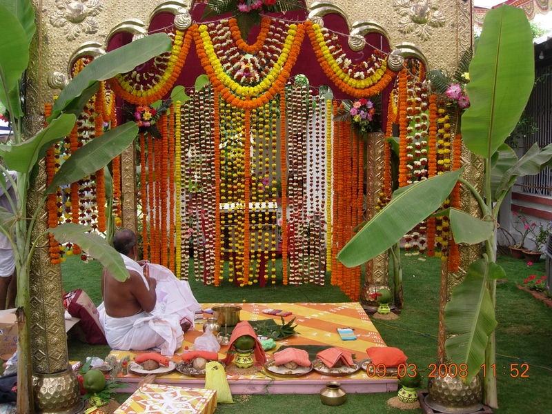 South Indian Wedding Mandap Decoration