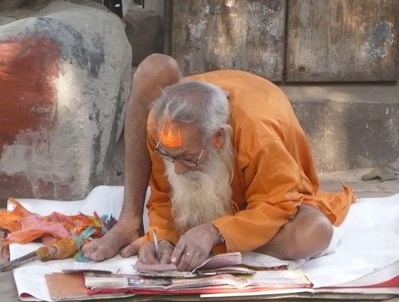 old man scribe translate kolkata calcutta