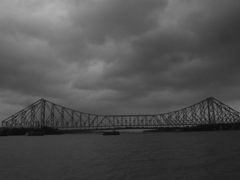 Howrah Bridge under monsoon