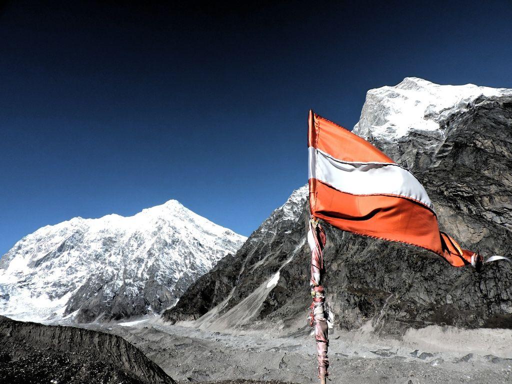 Mt. Chaukhamba and Mt. Balakun from Chakratirtha Top