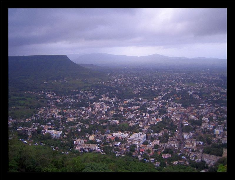 View of Satara City from Ajinkyatara Fort