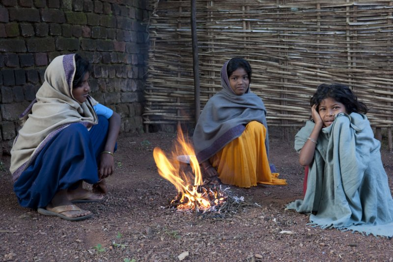winter in village