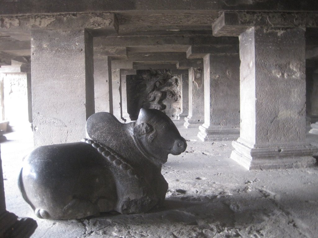 Ellora bull sculpture