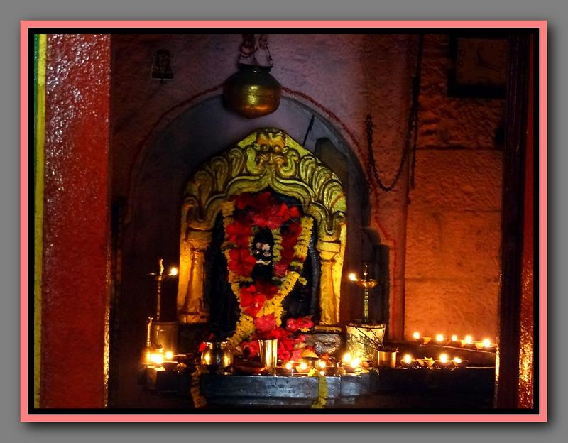 Engine Burning Oil >> Shivling inside the Kaadasiddeshwara temple with numerous oil lamps burning close to it ...
