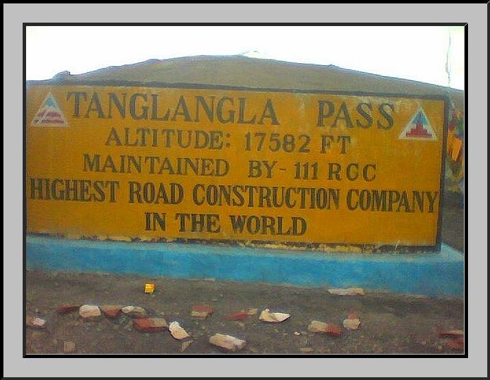 Rcc Construction Company : Tanglangla pass ft rcc highest road