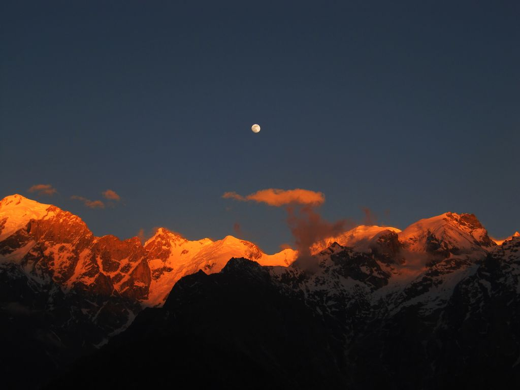 Sunset Over Kinnaur Kailash
