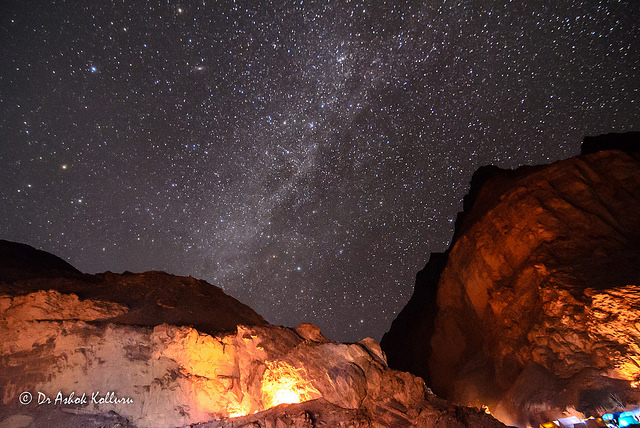Milky way at Tibb cave on Chadar trek