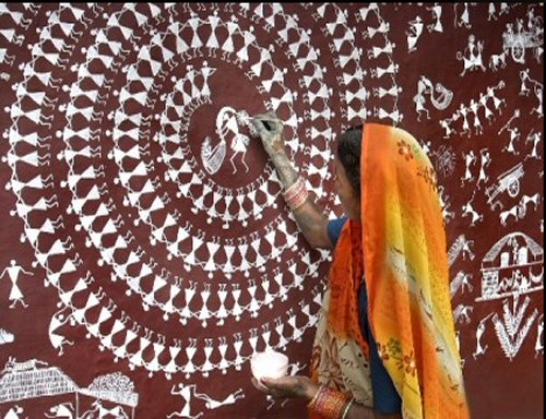 Wall Painting For Durga Festival India Travel Forum
