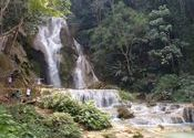 Khang Si waterfall near Luang Prabang Laos by sab kuch milega.  Tags: tag this document, waterfall, laos.