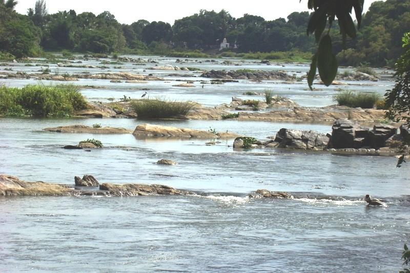 Kaveri River Sangam Confluence Near Srirangapatnam