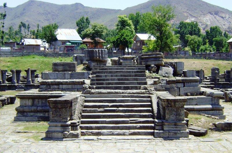 Awantiswamy Temple ruins, Avantipore,  Kashmir.