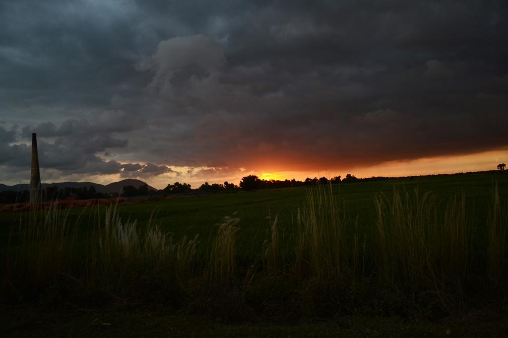 A Sunset in Bihar