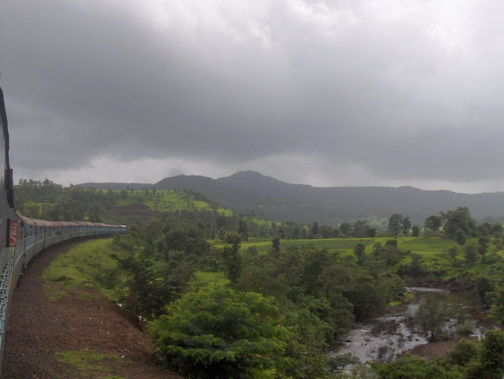 On the Konkan Railway - Monsoon